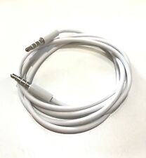 WHITE 1m Jack to Jack 3.5mm Audio Cable Aux Stereo Lead Mobile Car