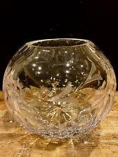 "Rogaska Rose Bowl ""Country Garden"" Hand Blown Glassware"
