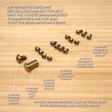 Benchmade 940-2 Osborne Knife 16 PC BRASS Anodized Titanium Screw & Pivot Set