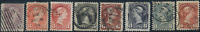 Canada #40-45 used VG-F/VF 1870-1897 Queen Victoria Small Queen Part Set  JUMBOS