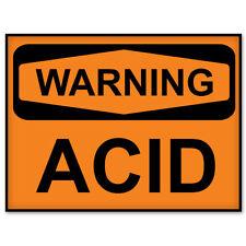"""ACID Warning acid danger sign sticker decal 6"""" x 4"""""""