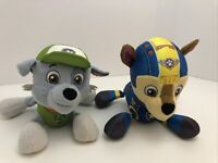 """Spin Master Paw Patrol Chase And Rocky Pup Dog Plush Stuffed Animal Toy 6"""""""