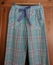 PJ Trousers Turquoise Pink Leisure Lounge Pants Size 8-10 100% Cotton
