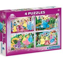 Clementoni Disney Princess 4 Puzzles Regalo Souvenir Princesas Frozen