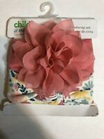 CARTER'S CHILD OF MINE PINK And Floral HEADBANDS HEADWRAP SET