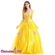 Ladies Disney Belle Sleeping Beauty and Beast Princess Fancy Dress Costume