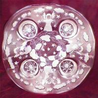 Mikasa Holiday Lights Crystal Bowl Centerpiece Candle Holder Mint in Box Germany