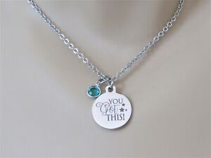 You Got This Necklace, Motivational Necklace, Gift for Friend, Gift for Daughter