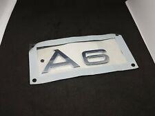 New Genuine AUDI A6/S6/ALLROAD Rear Trunk Chrome A6 Badge Logo 4F08537412ZZ OEM