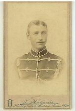 Vintage CDV of German Soldier in Uniform Harlander Hamburg Germany