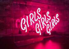 "Neon ""girls / Girls / Girls"" beer bar family room neon sign custom decoration"