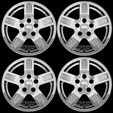 "05 06 07 Jeep Grand Cherokee 17"" Chrome Wheel Skins Hub Caps 5 Spokes Rim Covers"