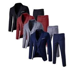 3pcs/set Herren Anzüge Tweed Jacke Blazer Weste Hose  Formale Party Tux Suits HS