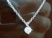 "GIA "" BlueNile Signature Ideal "" 18K Round Diamond Necklace ( EXCELLENT CUT !)"