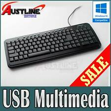 USB Deluxe Multimedia Keyboard Super Durable Wired Windows10 PS2 *60%OFF  21B