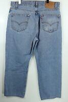 Vintage 1998 Levi's 505 36x30 Regular Fit Straight Leg Faded Denim Jeans USA