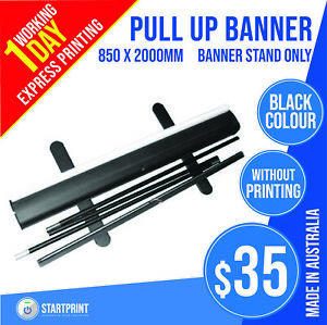 Black Pull up banner Stand (without print) for 850mm x 2000mm Banner