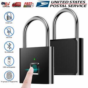 Fingerprint Padlock Keyless Smart Thumbprint Lock USB Rechargeable Anti-Theft