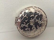 Pottery Barn Silver Platted Photo Compact