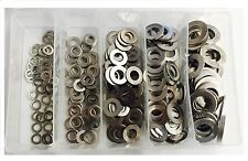 Qty 225 Flat Washer Kit 3/16 1/4 5/16 3/8 1/2 Stainless Grade Imperial 304