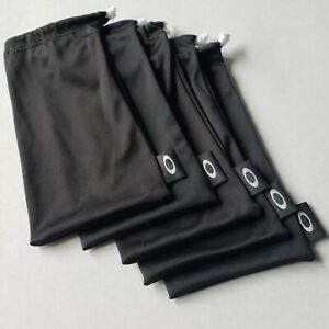 OAKLEY 5 PACK - LARGE BLACK MICRO FIBER CLOTH SUNGLASSES CLEANING STORAGE BAGS