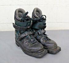 Alpina Heavy Black Leather & Plastic 3-Pin 75mm Telemark Ski Boots EU 39 US 8