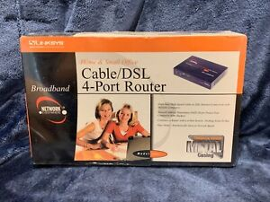 Linksys Cable/DSL 4-Port Router Model NR041 Metal Casing