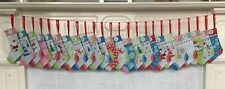 Christmas Advent Calendar 24 Fabric Stocking Garland