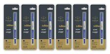 6 x Parker Quink Rollerball Roller Ball Pen Refills, Blue Ink, Ultra Fine, 0.5mm
