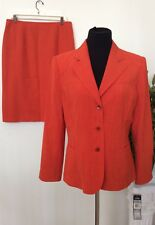 NWT Kasper Women's Red 100% Polyester 2 Piece Skirt Suit Size 12, Retail $280