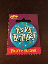Expression Factory party badge Its my Birthday boy blue