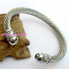 316L Stainless Steel Top Quality Silver Cuff Bangle Women Men's Bracelet Jewelry