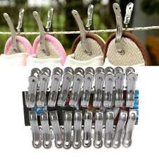 20 Pcs Stainless Steel Clothes Pegs Hanging Pins Laundry Windproof Clips
