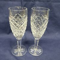 Pair of Waterford Crystal Fluted Champagne Comeragh (Cut) Glasses for Valentines