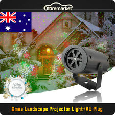 Led Moving Xmas Snowflake Light Super Laser Spotlight Garden Christmas Party AU