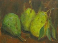 5x7 Oil Painting Impressionism Original Art Pears Realism Sallows