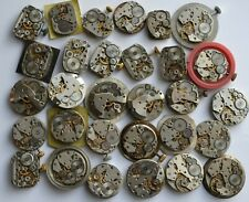 Lot of 30 movements USSR watches ZARIA,Luch,Chayka steampunk art design