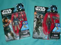Star Wars Rogue One Captain Cassian Andor Sergeant Jyn Erso Jedha 2 Figure Lot