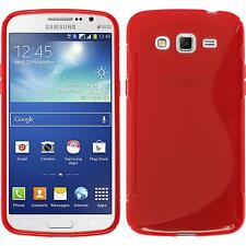 Coque en Silicone Samsung Galaxy Grand 2 - S-Style rouge + films de protection