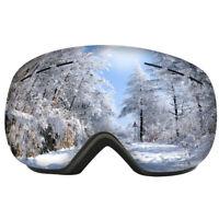 Skibrille Double Layers UV400 Anti-Fog-Brille Skifahren Snow Snowboard Goggle