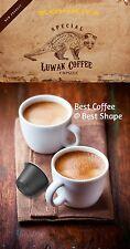 24 Nespresso Capsules / Pods Pure Authentic Arabica Kopi LUWAK Civet Coffee