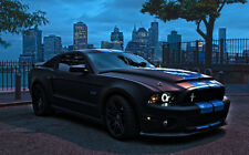 """FORD MUSTANG SHELBY GT500 2 A1 CANVAS PRINT POSTER FRAMED 33.1"""" x 21.4"""""""
