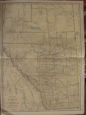 1922 LARGE AMERICA MAP ~ ALBERTA RAILROADS CANADIAN NATIONAL  RAND MCNALLY