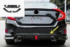 Carbon Fiber Exterior Bumper Fit Rear Board Guard Trim For Honda Civic 2016-2019