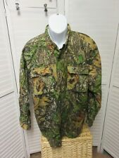 Mens Mossy Oak Obsession Camouflage rip stop Long Sleeve Button  Shirt Large