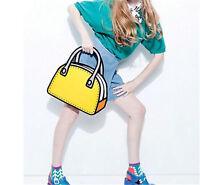 Hot 3D Jump Style 2D Drawing From Cartoon Paper Bag Comic 3D Messenger Bag