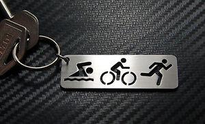 TRIATHLON Swim Bike Run Sport Keyring Keychain Key Fob