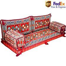 Arabic Floor Sofa Set Turkish Majilis Oriental Seating Color Red Cushion FOAM