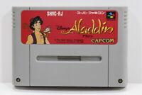 Disney's Aladdin SFC Nintendo Super Famicom SNES Japan Import US Seller I6847 B