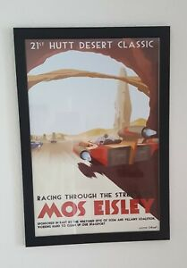 Star Wars Racing through the streets of Mos Eisley Two and a half men Poster